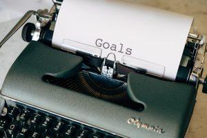 GOALS typewriter